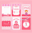 Princess Birthday Party Invitation Template vector image