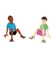 kids sitting vector image vector image