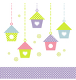 Beautiful colorful Bird houses isolated on white vector image
