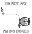 Big boned vector image vector image