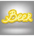 beer text vector image