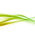 Bright green speed swoosh line abstract modern vector image vector image