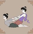 Thai massage vector image vector image
