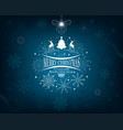 blue design with snowflakes and deer vector image