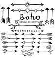 Boho doodle design elements vector image