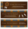 Ethnic Banners with Dream Catcher vector image