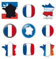 france icons vector image