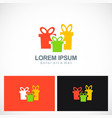 gift colored logo vector image