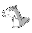 horse animal icon vector image