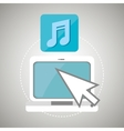 laptop arrow app icon vector image