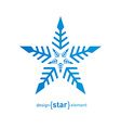 Original snowflake on white background vector image