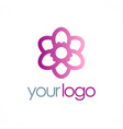 round beauty flower logo vector image