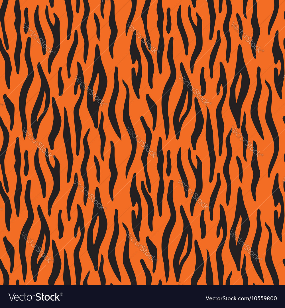 Abstract animal print seamless pattern with tiger vector