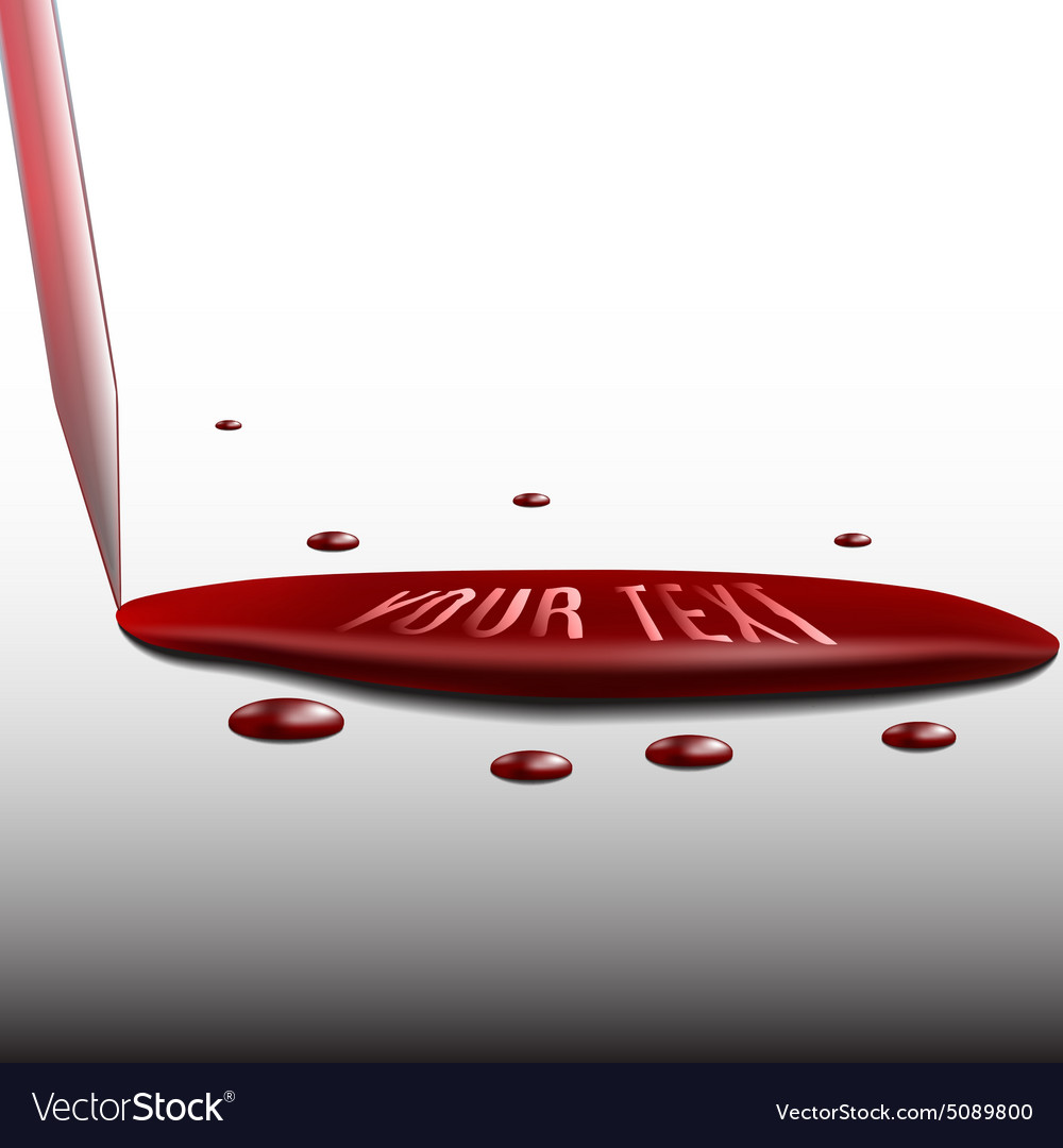 Flowing blood from the pipette as a template for vector