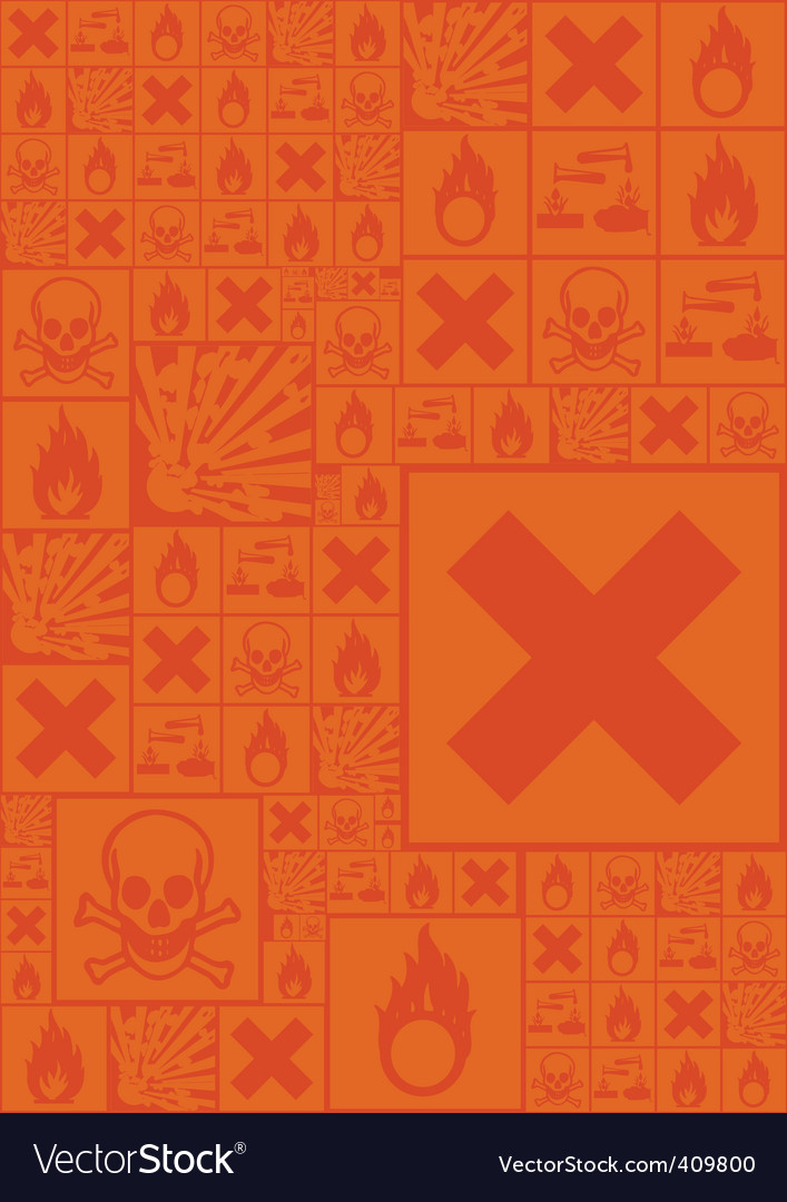 Hazardous symbols vector