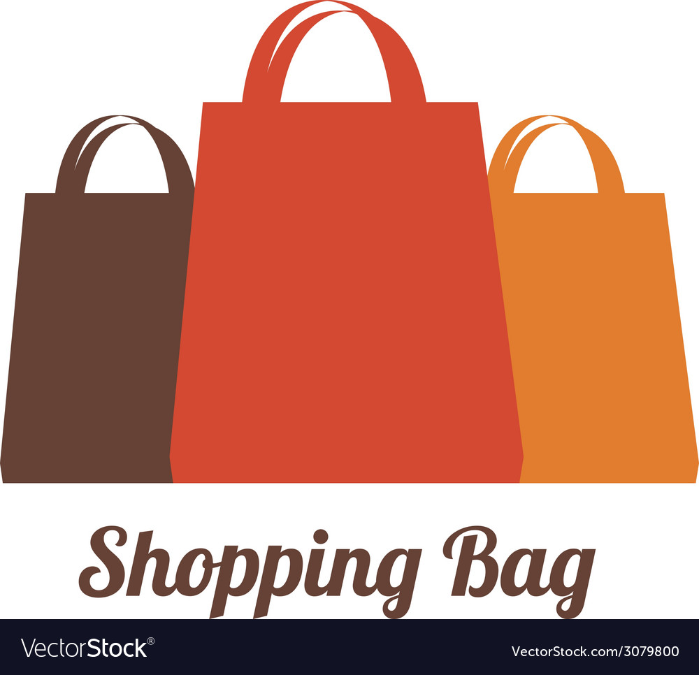 Shopping bags design vector