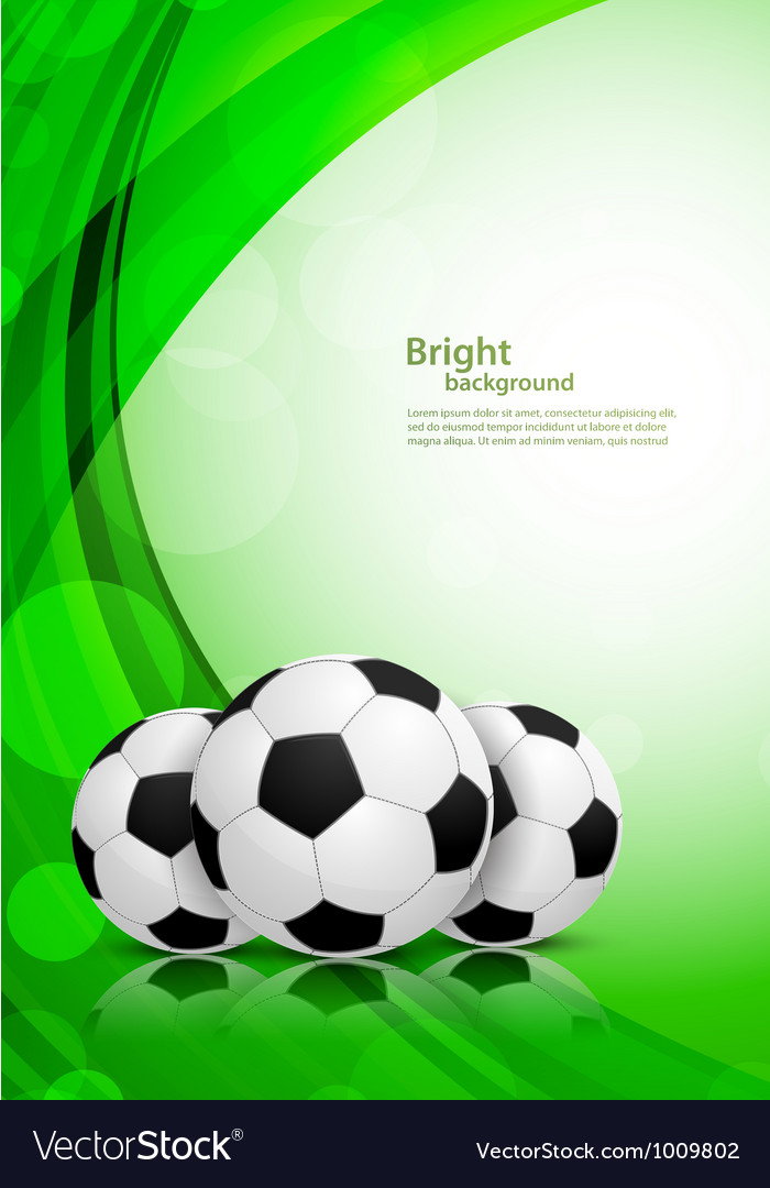 Background with soccer balls vector