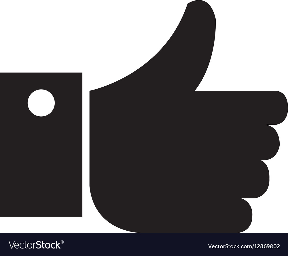 Hand human like isolated icon vector