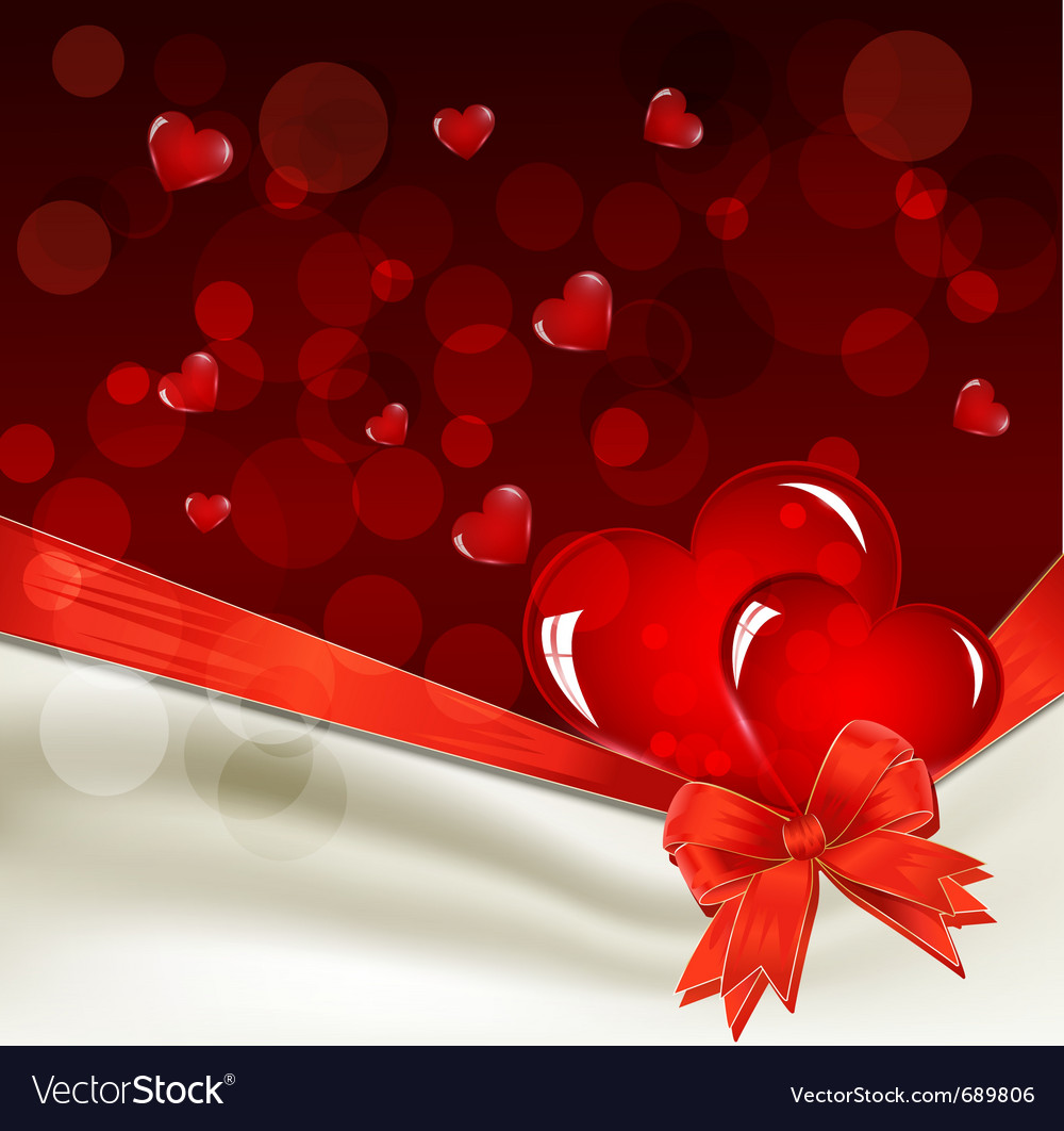 Background for valentines day vector