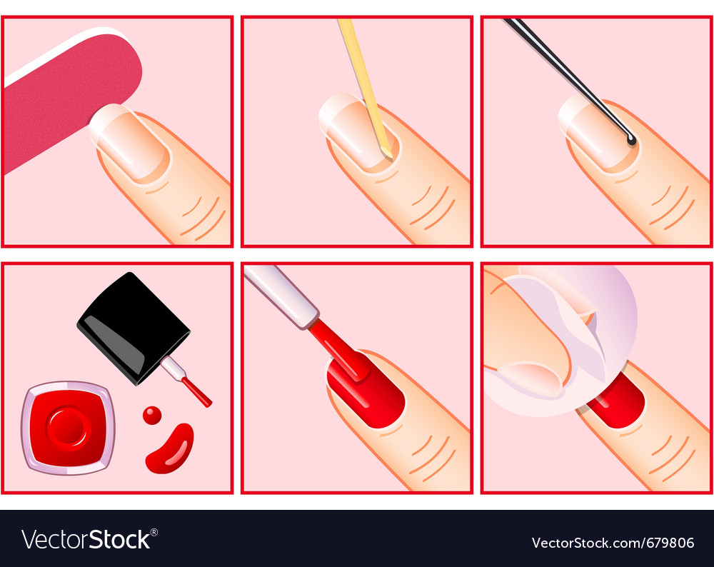 Professional manicure vector