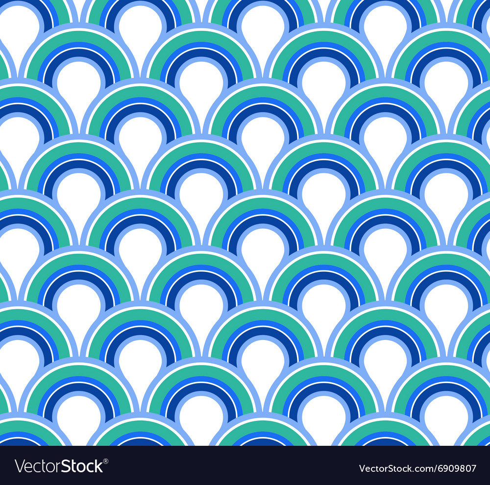 Blue wave abstract seamless background vector
