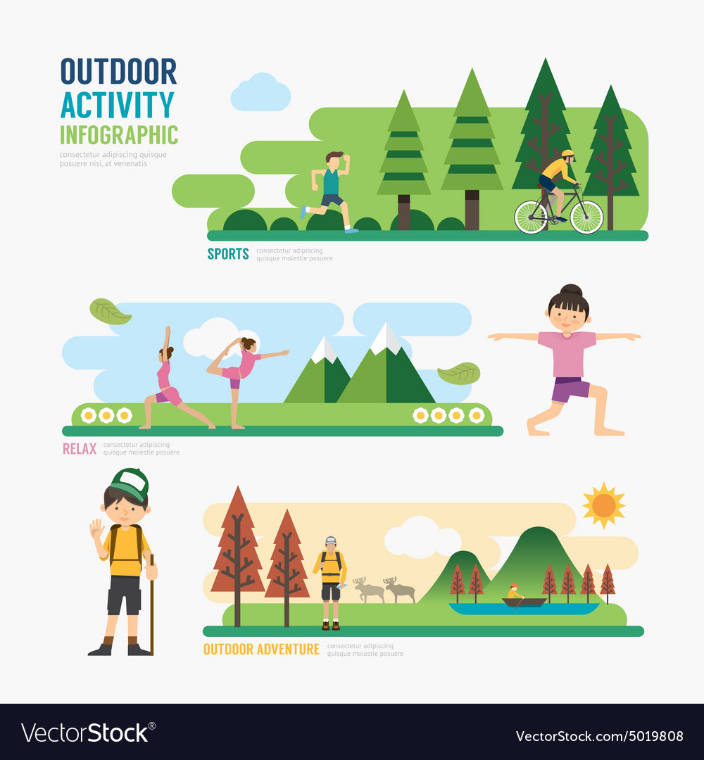 Parks and outdoor activitytemplate design infograp vector
