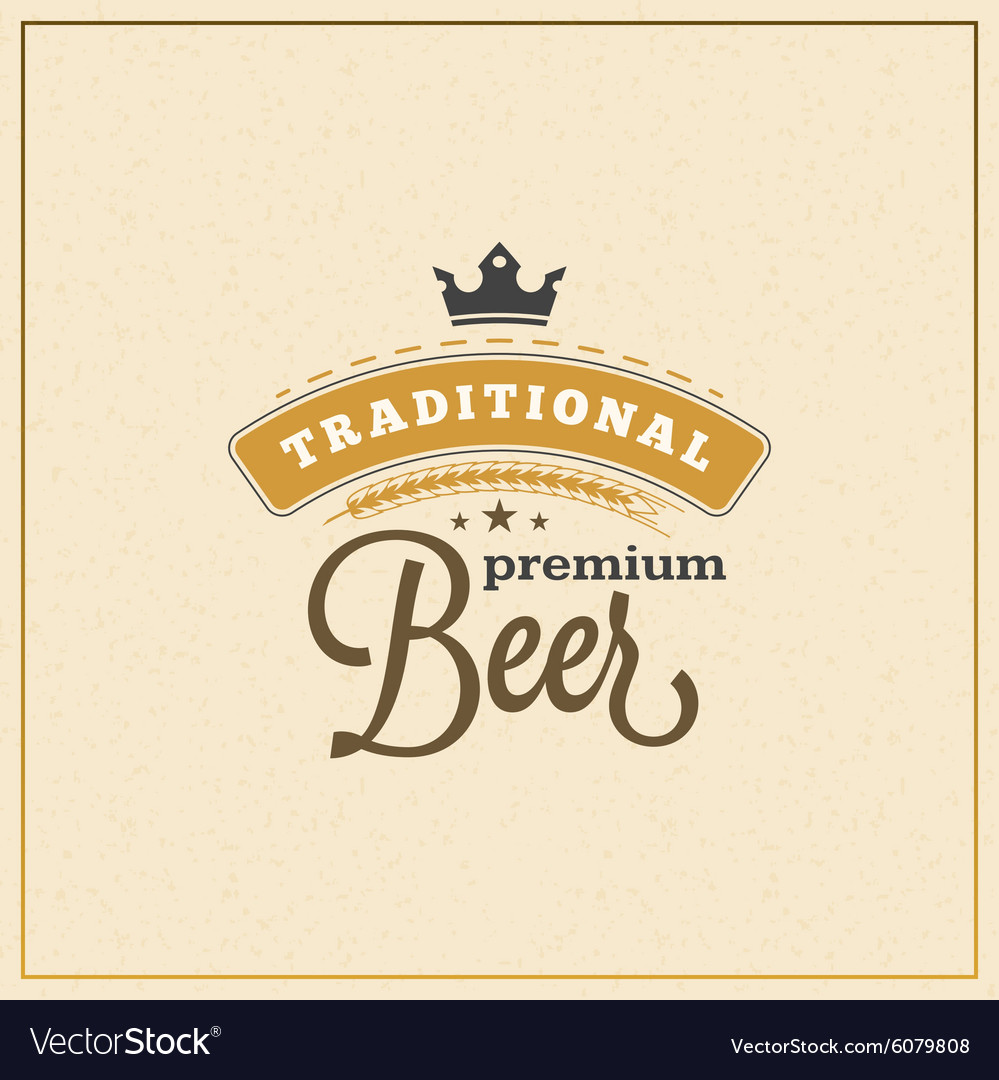 Retro design element badge logotype label for beer vector