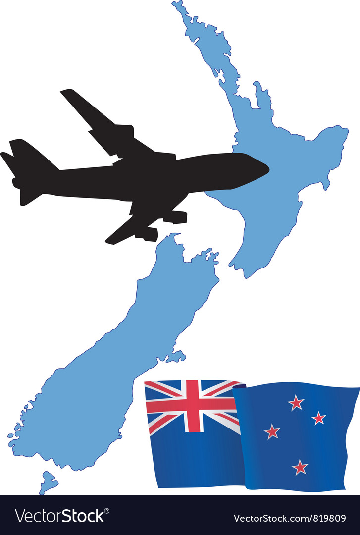 Fly me to the new zealand vector
