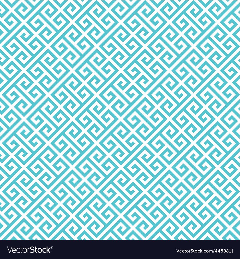 Greek key pattern background vector