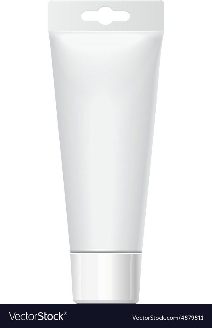 Realistic tube for cosmetics vector