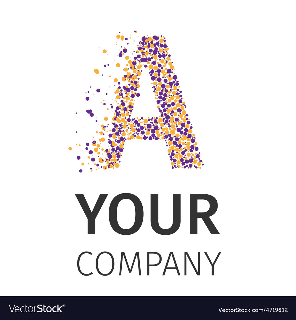 Alphabet particles logotype lettera vector
