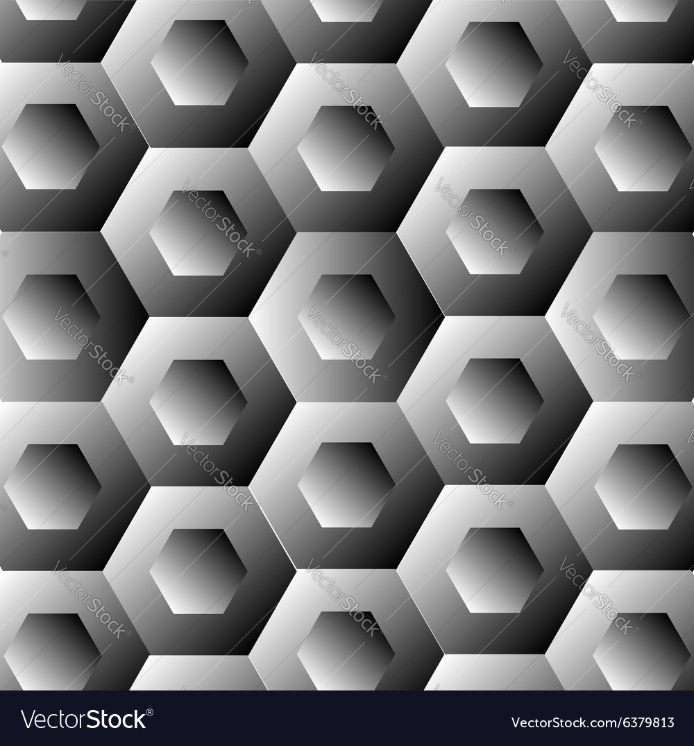 Optical with hexagon vector