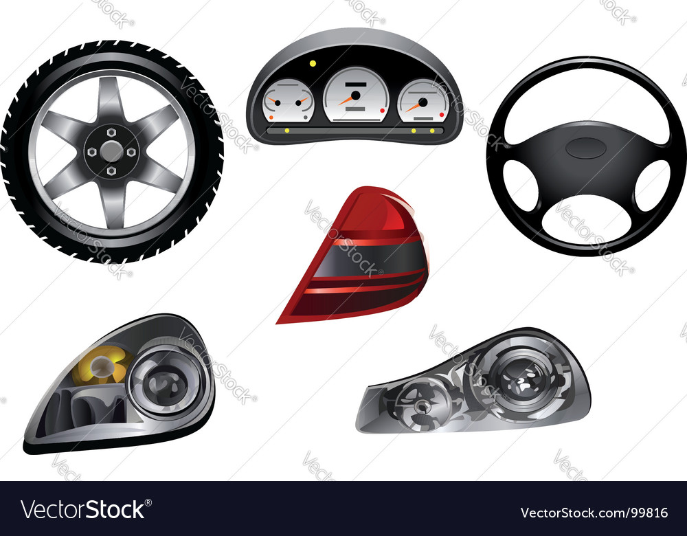 Car design details vector