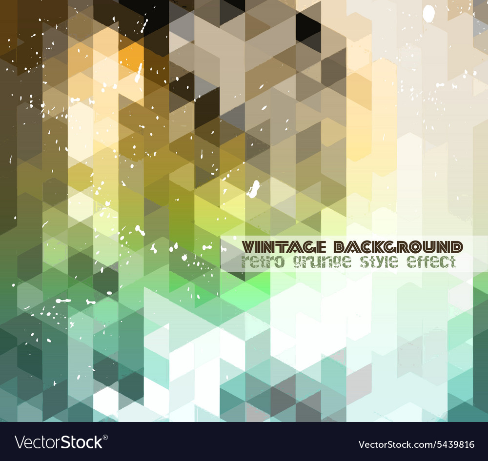 Vintage retrodesign flyer template abstract vector