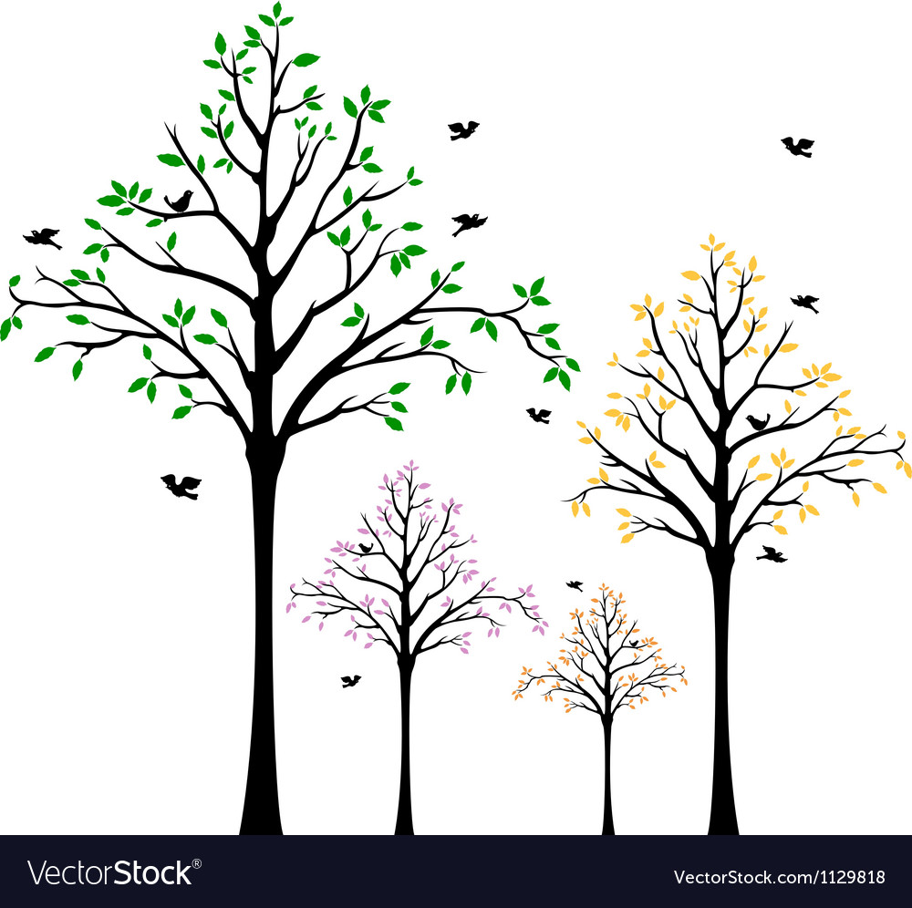 Tree wall decal vector