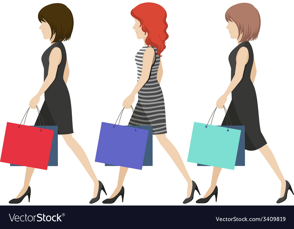 Women shoppers vector