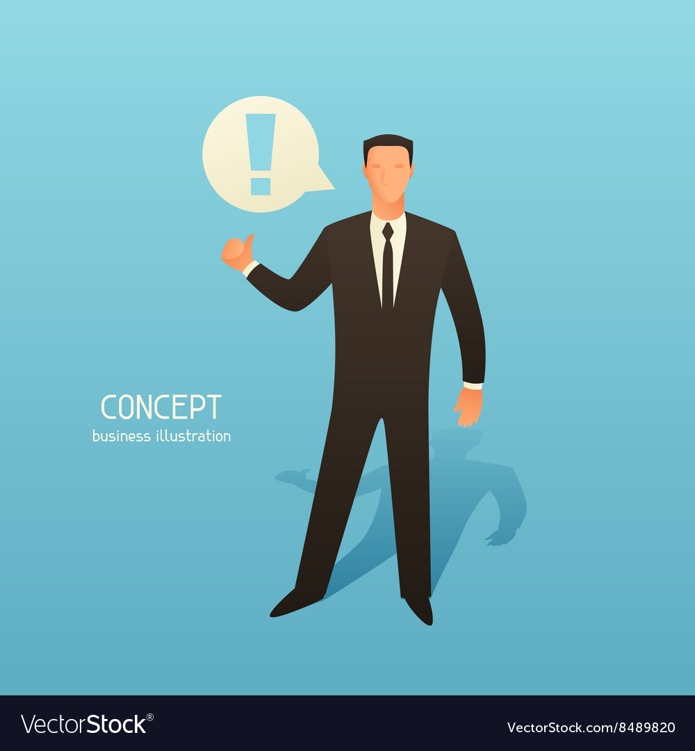 Concept business with businessman and vector