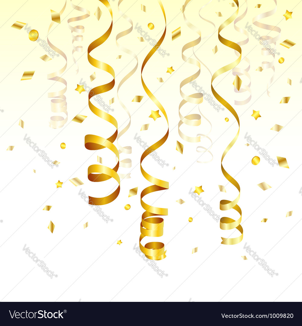 Gold streamer vector