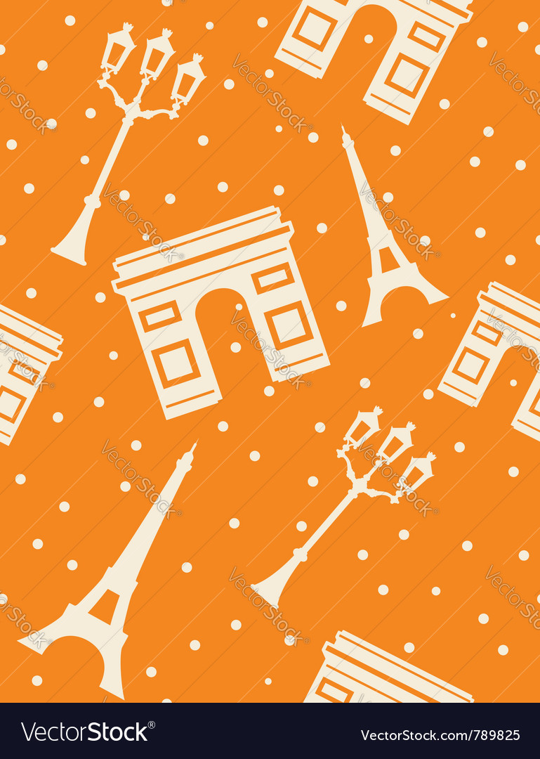 Paris  abstract seamless background vector