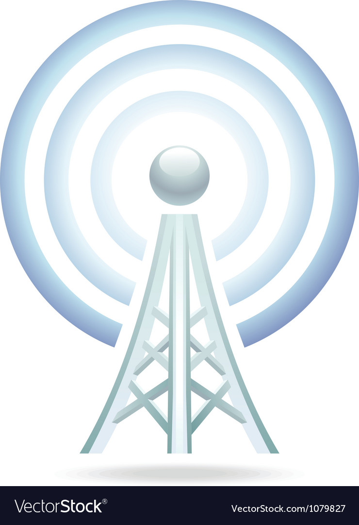 Wifi tower icon vector