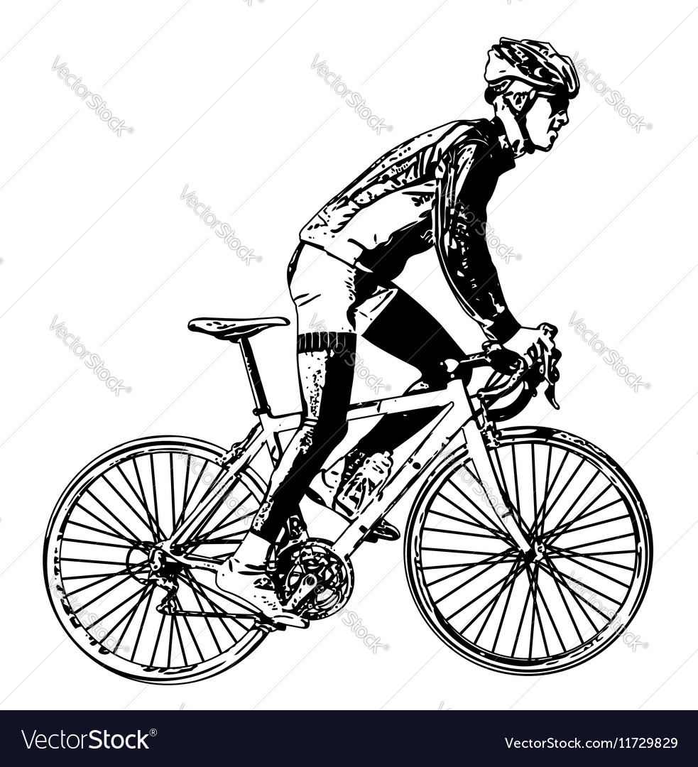 Race bicyclist vector