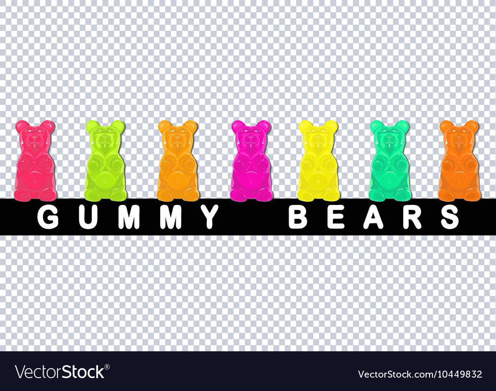 Colored gummy bears vector