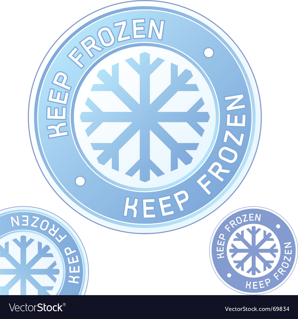 Keep frozen food label vector