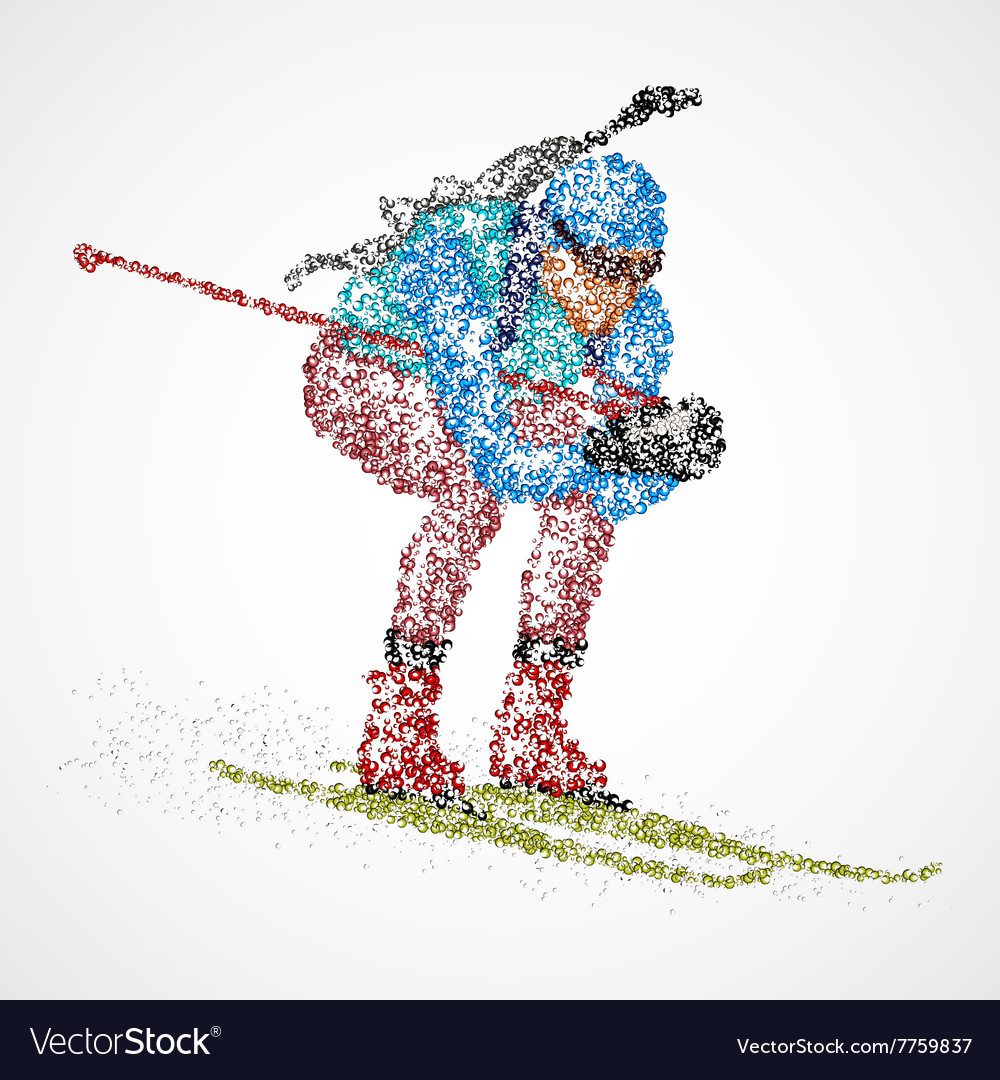 Abstract biathlon sportsman vector