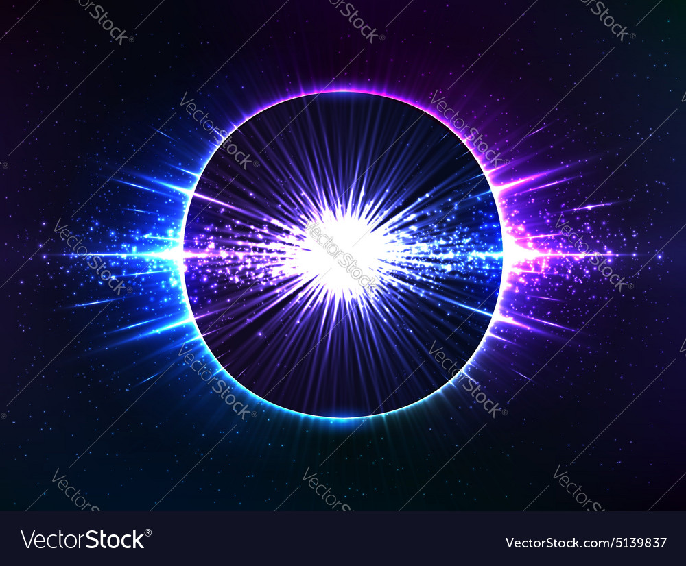 Dark blue cosmic explosion abstract vector