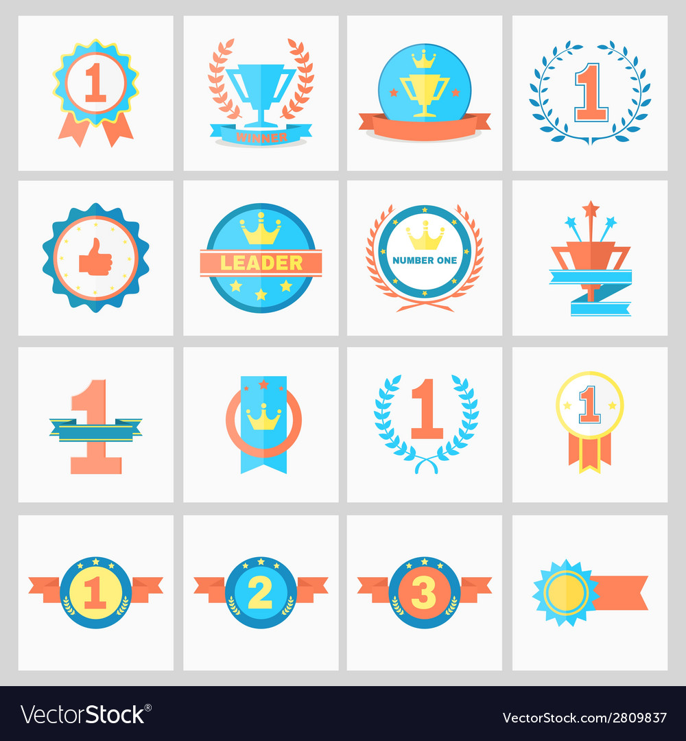 Winner ribbons vector