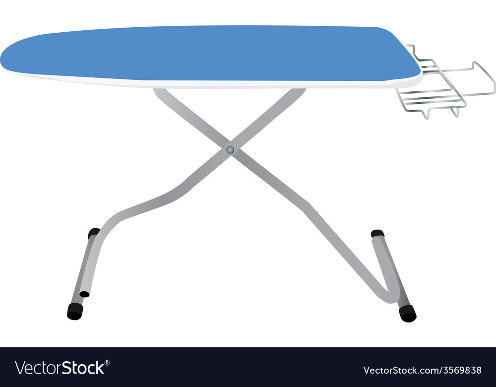 Blue ironing board vector