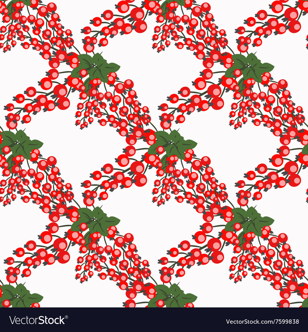 Fresh berries hand drawn seamless pattern doodle vector
