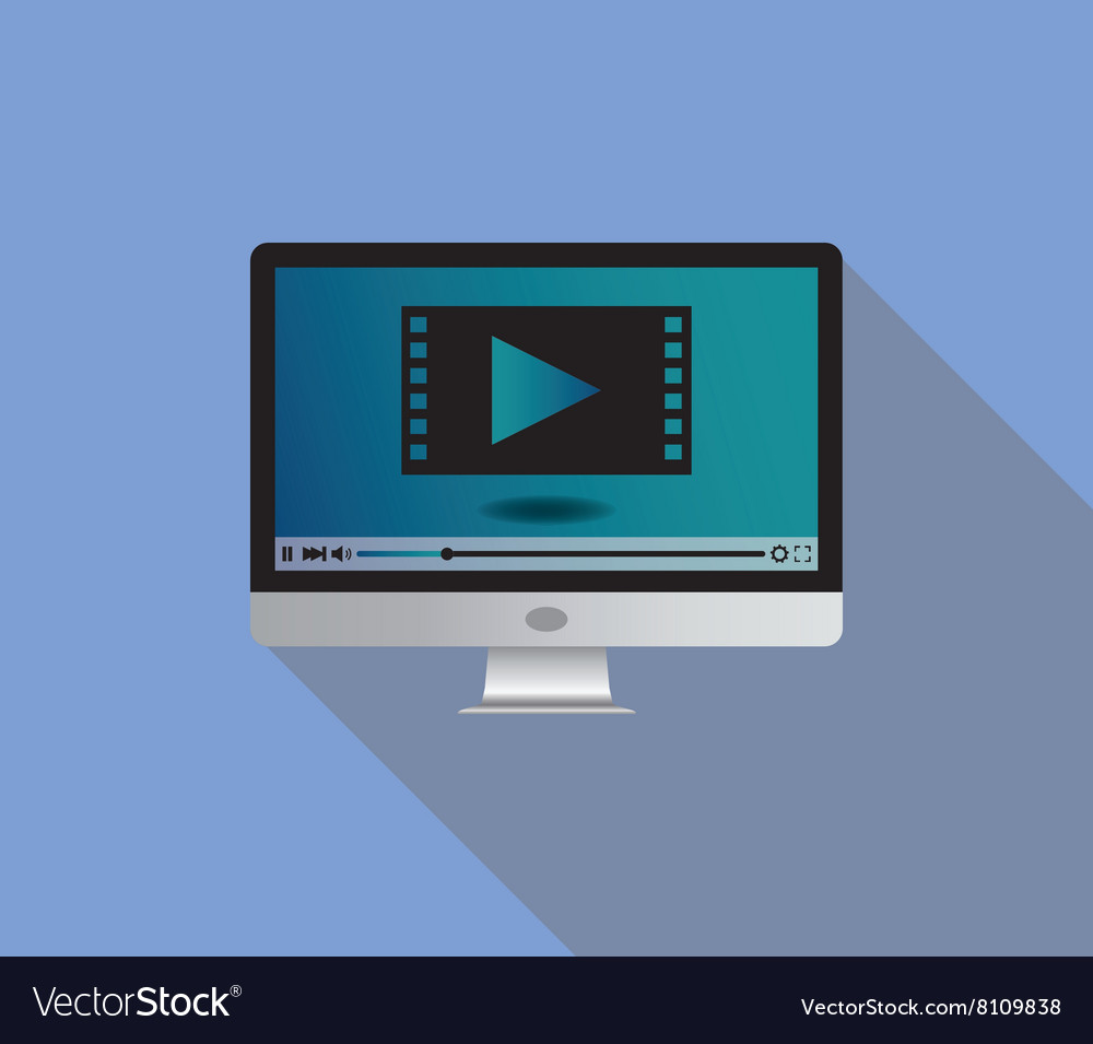 Live stream streaming video use monitor television vector