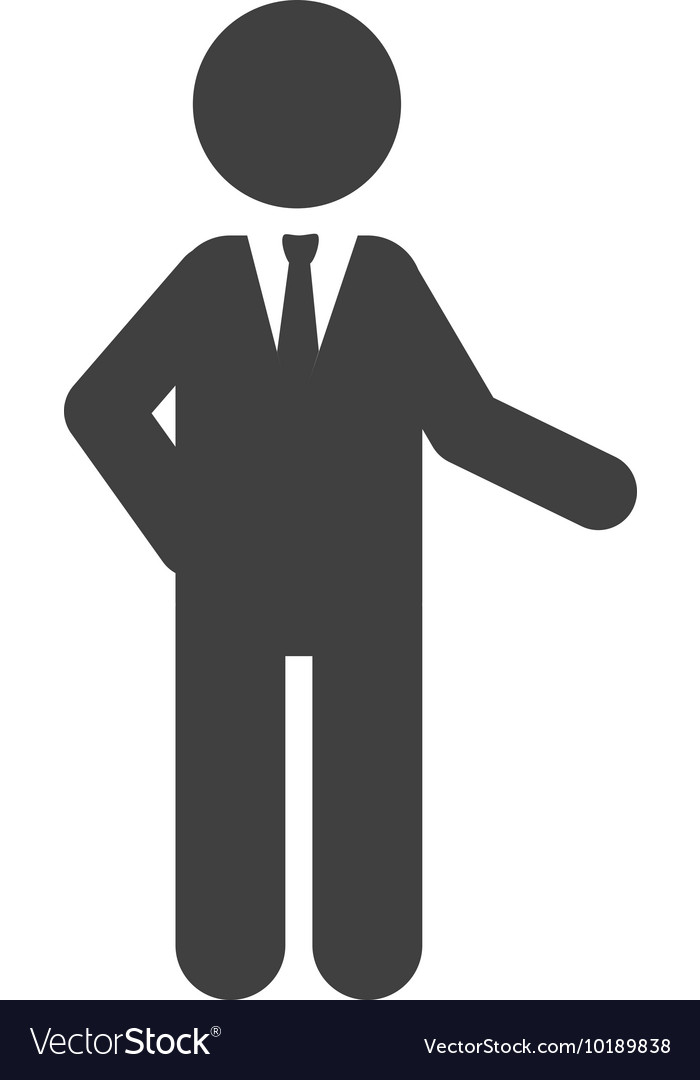 Man suit tie business icon graphic vector